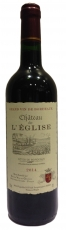 Chateau de L'Eglise Bordeaux 2016 75cl, 12,5%