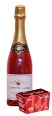 Comte de Laube Rosé 75cl + Prantsuse trühvlid vaarikamakrooniga 100g