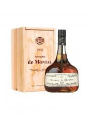 Armagnac De Montal Vintage 1991 puukarbis 40% 70cl