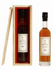 Armagnac De Montal Vintage 1986 in wooden box 40% 20cl