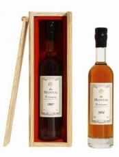 Armagnac De Montal Vintage 1977 in wooden box 40% 20cl