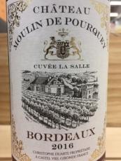 Chateau Moulin de Pourquey Cuvée La Salle Bordeaux AOX 2016